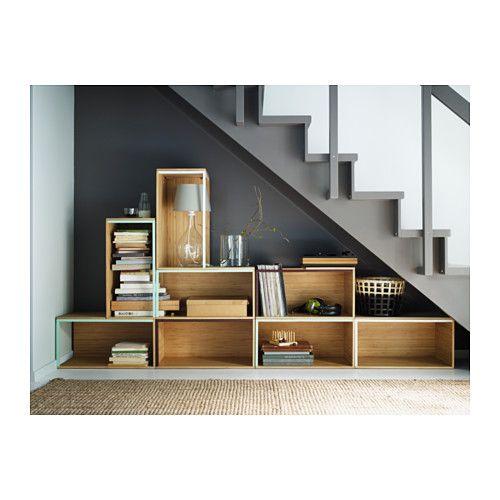 Für Schuhe/Flur  IKEA PS 2014 Aufbewahrungselement - Bambus/dunkelrot - IKEA