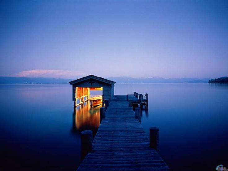 Boathouse, dusk