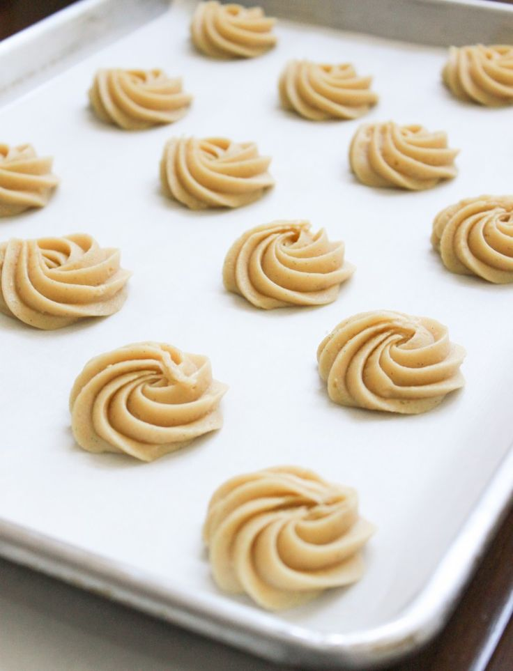 piped cookie batter