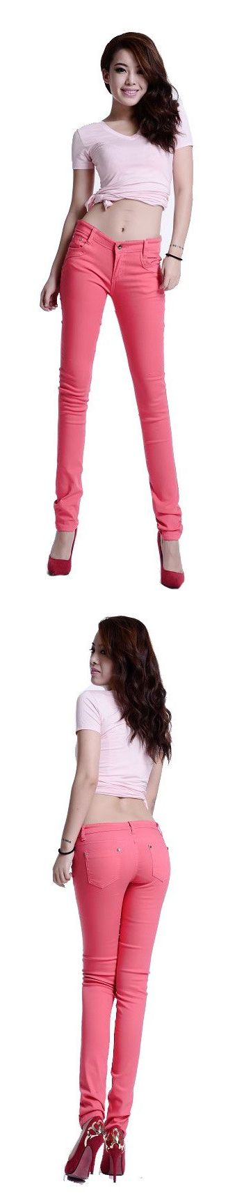 New Arrived Womens Jeggings Size 8 26 Ladies Fit Skinny Coloured Stretchy Trousers Jeans Casual Summer Autumn Pants Q0543-2