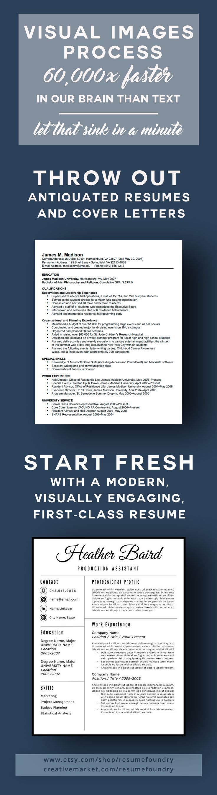 making resume format%0A Take advantage of the fact that visual images process faster than text   make your resume visually engaging