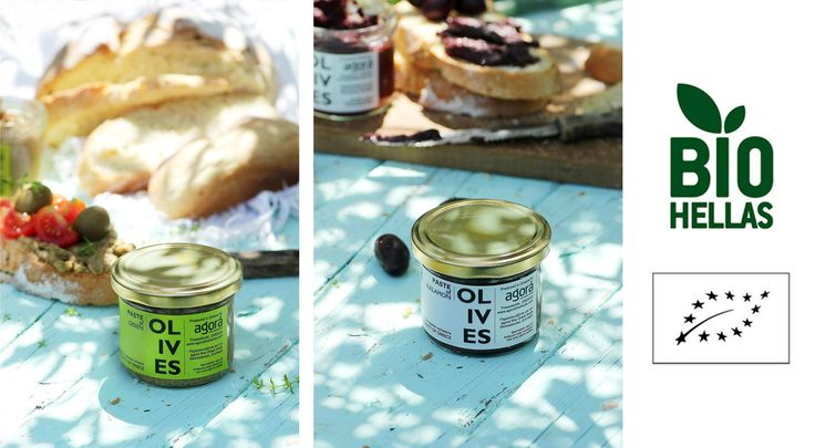 *Organic Pastes from Olives* Green & Kalamata organic paste, certified by Bio Hellas /// Rich and balanced flavor! www.agorafinefoods.com