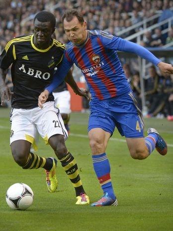 Outra equipe russa que se deu bem foi o CSKA Moscou, que, na Suécia, derrotou o AIK Estocolmo por 1 a 0  Foto: Reuters
