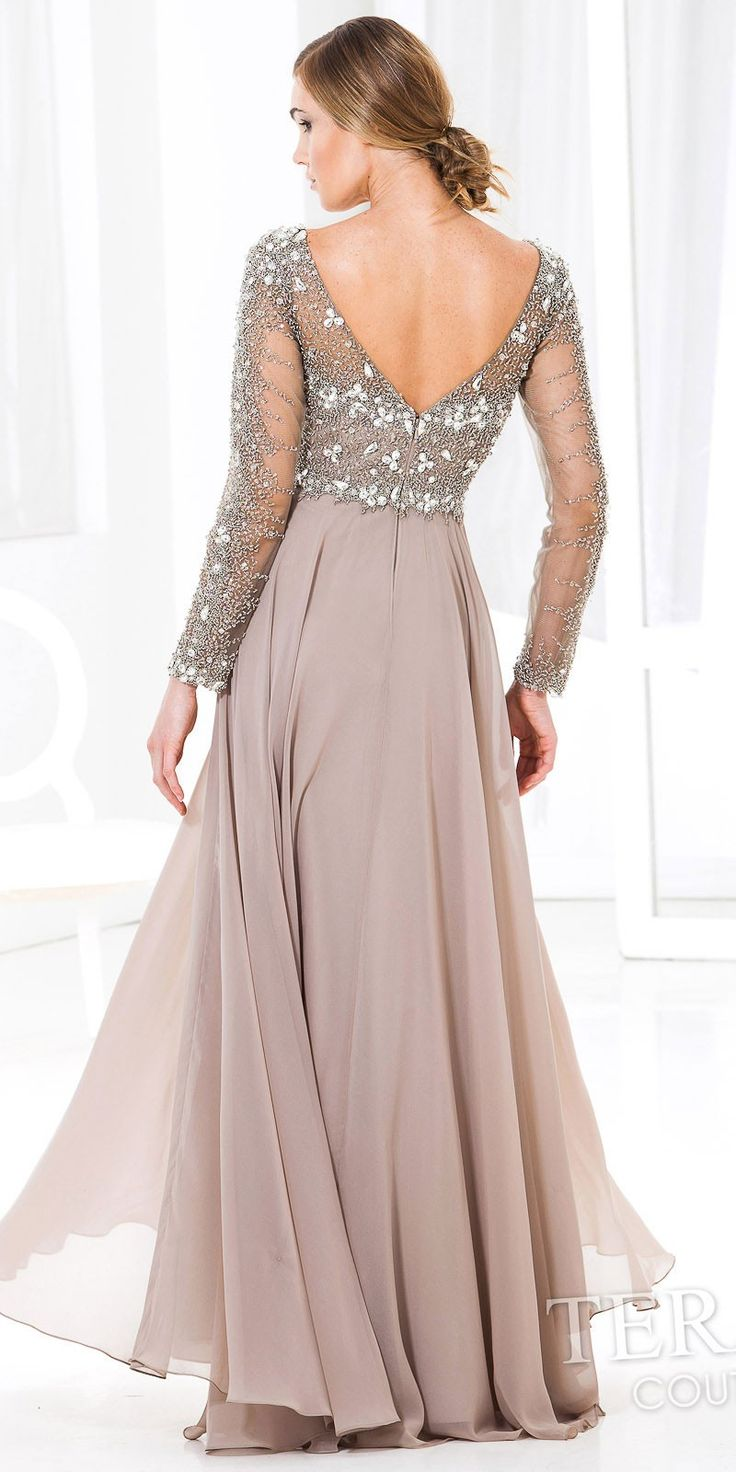 Hug Shoulder Evening Dress by Terani Couture