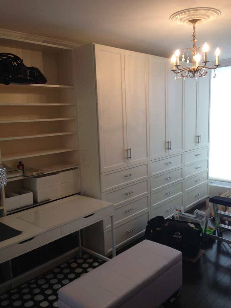 Our customer turned one of her spare rooms into this Dressing Room. Huge storage for her huge wardrobe!