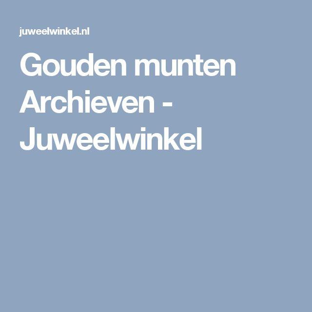Gouden munten Archieven - Juweelwinkel