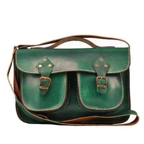 Handmade ,Green Leather ,Messenger Bag ,Tote Bag ,ipad Bag ,for men ,crossbody  ,under 100 ,leather messenger bag on Etsy, $109.66 AUD