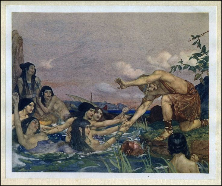 william Russel Flint - L'idylle de Theocritus, 1922