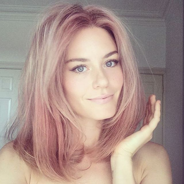 Pin for Later: Concrete Proof That Rose Gold Is the Perfect Rainbow Hair Hue For Spring