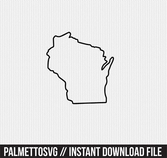 Wisconsin Map Outline Printable State Shape Stencil Pattern Map Outline Printable Patterns Pattern