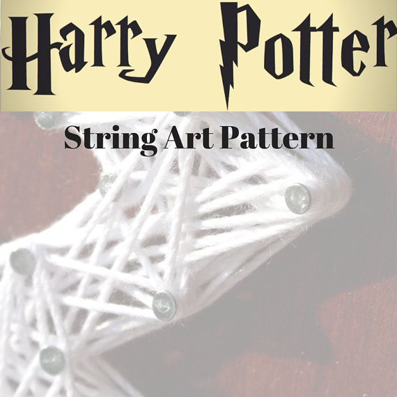 Harry Potter String Art Pattern/ String Art by DistantRealms