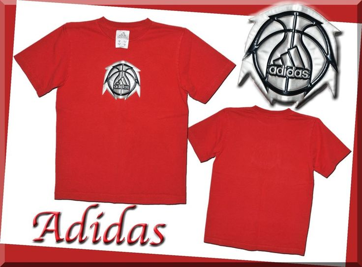 Adidas Boys Medium Red Shirt 3/D Logo T-Shirt 10/12 Mint Condition  | eBay