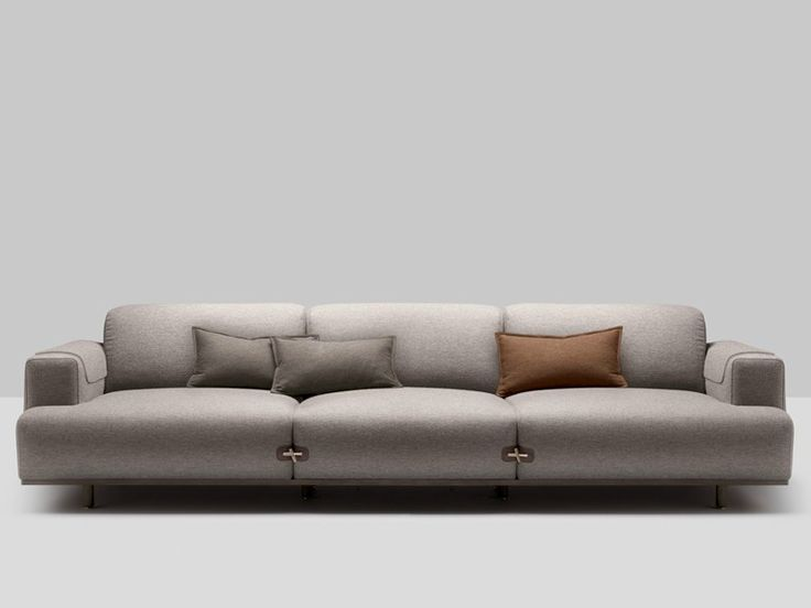 3 Seater Upholstered Fabric Sofa Duffle Collection By Bosc | Design Jean  Louis Iratzoki