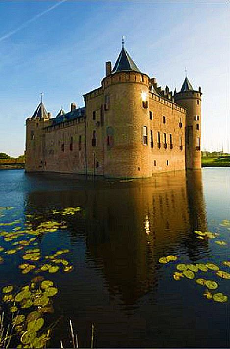 Castle Muiderslot in Muiden, Netherlands