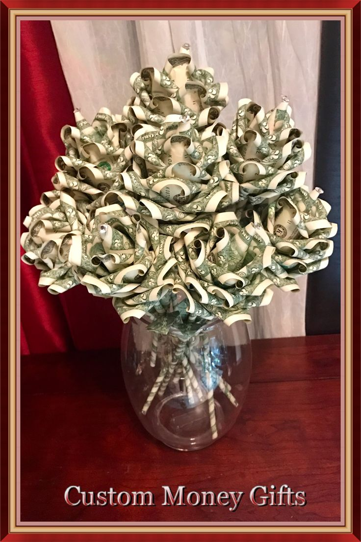 Money rose bouquet for wedding, engagement, birthday, sweet 16, graduation, christening, baptism, Christmas and more. This bouquet made with 12 roses. Each rose made with 15x$2 bills.  Available upon request with any quantity and denomination of bills.  For ordering or any questions please contact Margarita @ (818)902-2202!