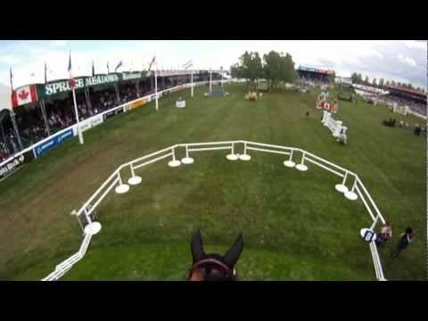 Super cool helmet-cam video from Spruce Meadows!!