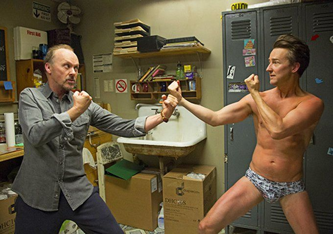 Pin for Later: 44 Sexy Shirtless Shots From 2014 Movies Birdman Edward Norton fights like man: in nothing but briefs!