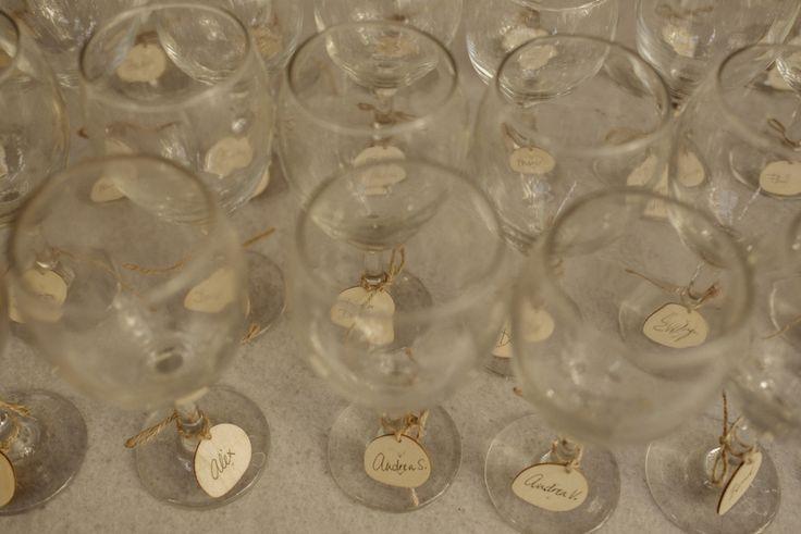Wine glass name tags