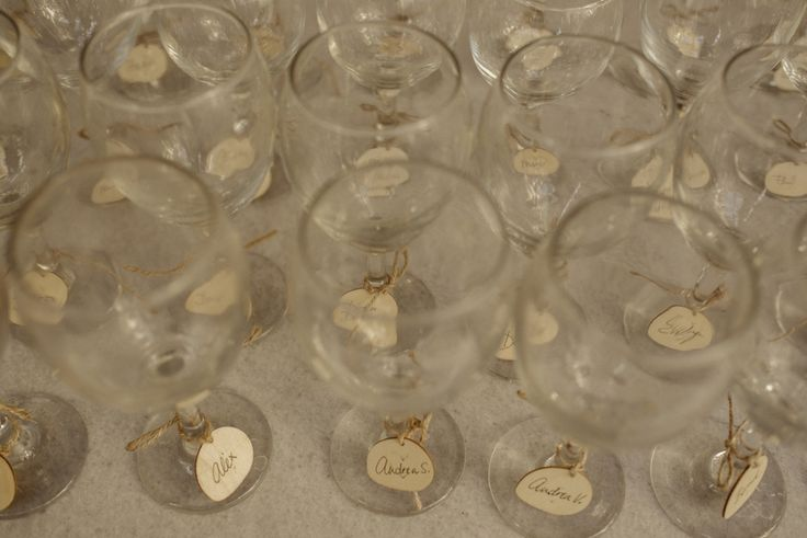 Wine glass name tags