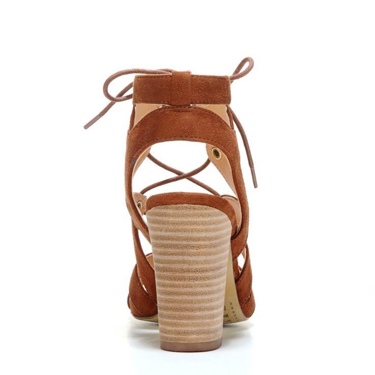 XOXO Women's Barnie Lace Up Sandals (Tan) - 10.0 M