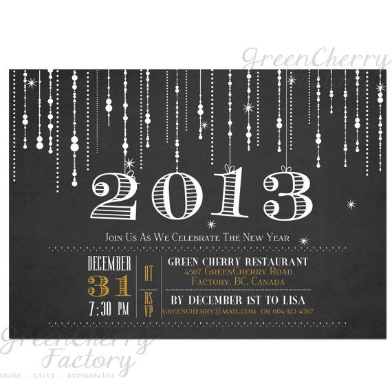 69 best invite ideas images on pinterest casino party chalkboard new years invitation sparkle by greencherryfactory 1800 stopboris Choice Image