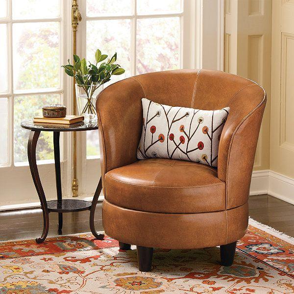 Rebecca Leather Swivel Chair
