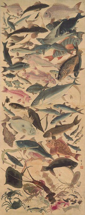 lots of fish, Yoshikazu Utagawa