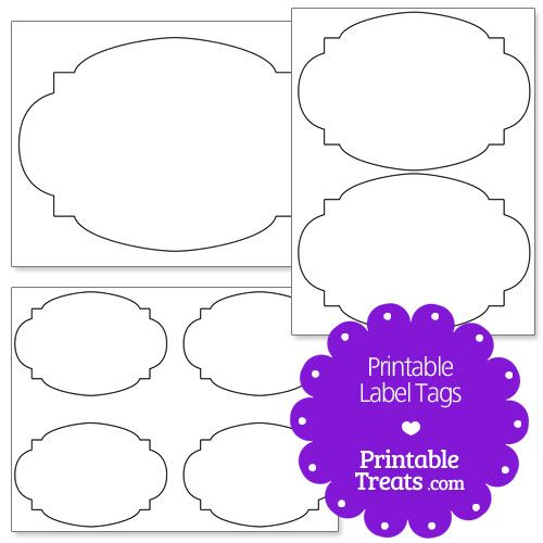 Printable Label Tags from PrintableTreats.com
