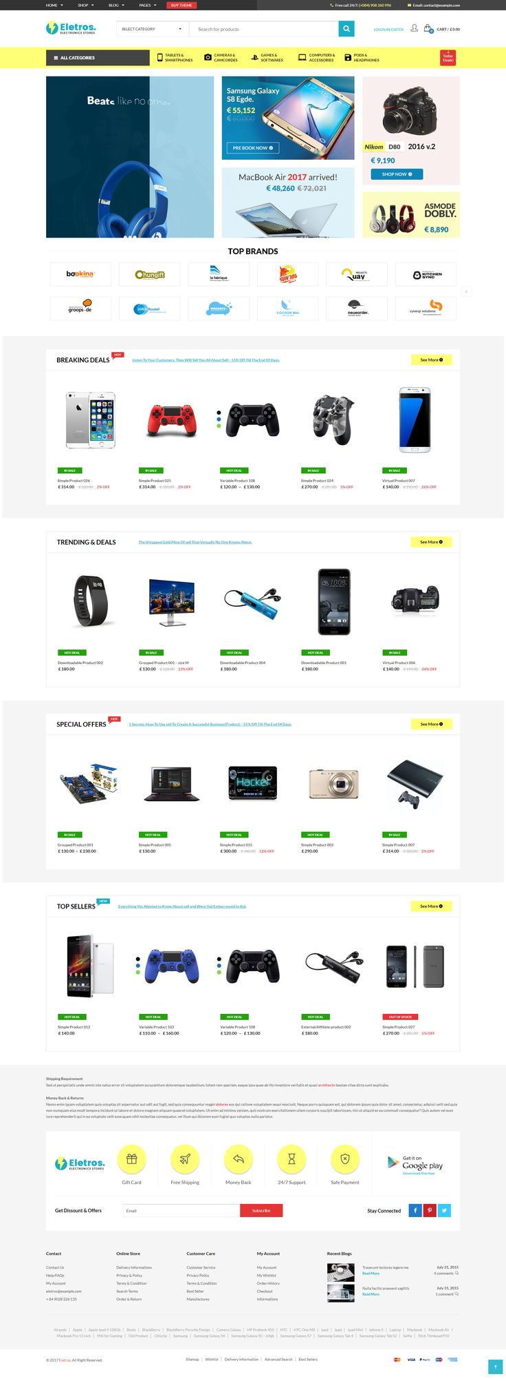 Heavy, bulky electronic stores of the past are gone forever. From now on you can build a cutting-edge eCommerce shop without a hassle; and sell computers, smartphones, tablets, affiliate #websites and anything else with the help of this responsive VG Eletros – Electronics Store WooCommerce Theme with clean multipurpose design. It is built for #WordPress and #WooCommerce, which means it is much more than just a regular #eCommerce template. #theme