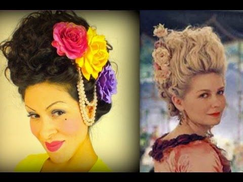 Marie Antoinette Hair Tutorial-ILoveGerardo; great tutorial for big big vintage hair for Halloween or period party