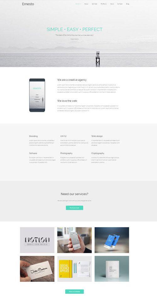 Ernesto WordPress Theme for Multipurpose Websites | http://sundaestudio.com ✿