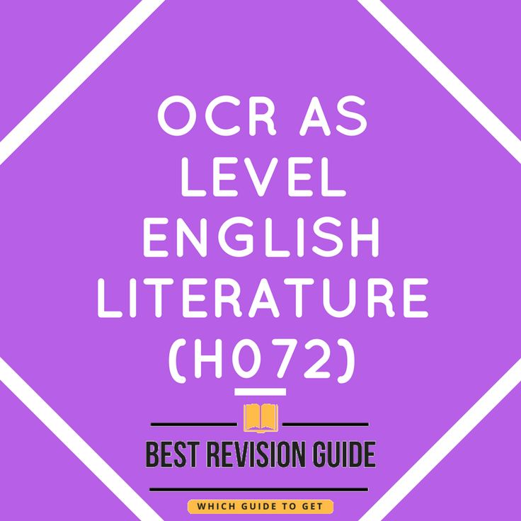 OCR AS Level English Literature (H072) Interested in getting the best revision guide or textbook, need help to decide