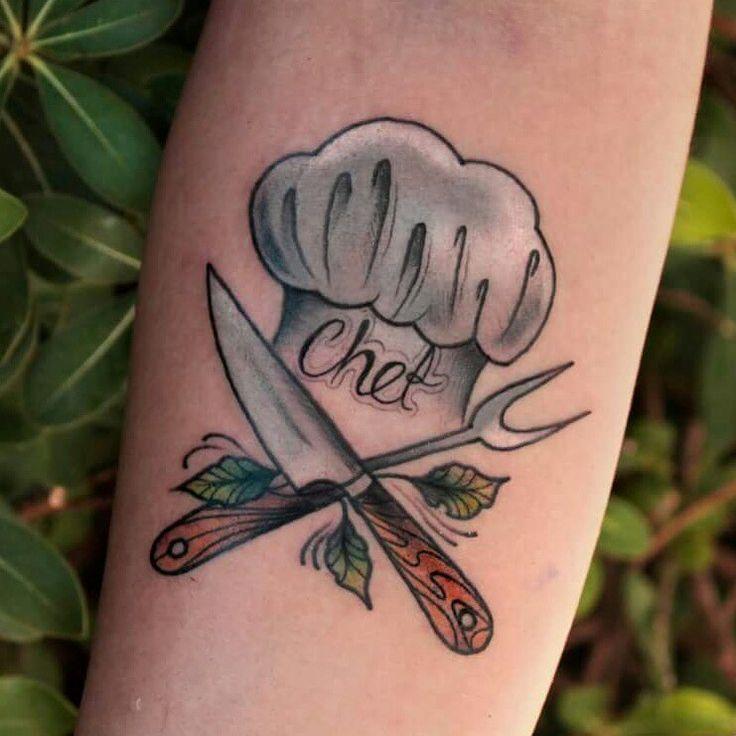 New school chef tattoo                                                                                                                                                                                 Más