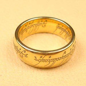 Обручальные кольца в стиле  Властелин колец. Сделано из сверхпрочного карбида вольфрама. Кольцо Всевластия будет служить вечно. Его невозможно расплавить, поцарапать или погнуть