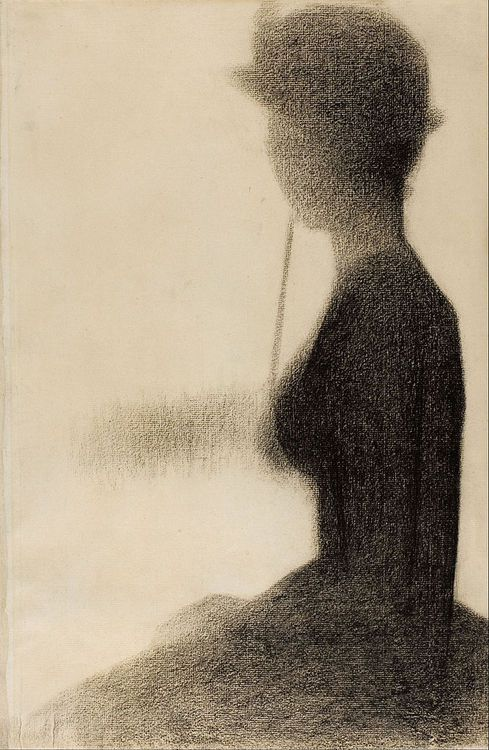 artemisdreaming:  Seated Woman with a Parasol (study for La Grande Jatte), 1884-85, Art Institute of Chicago  Georges Seurat