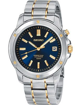 Seiko Perpetual Calendar - Stainless & Gold-Tone - Blue Face