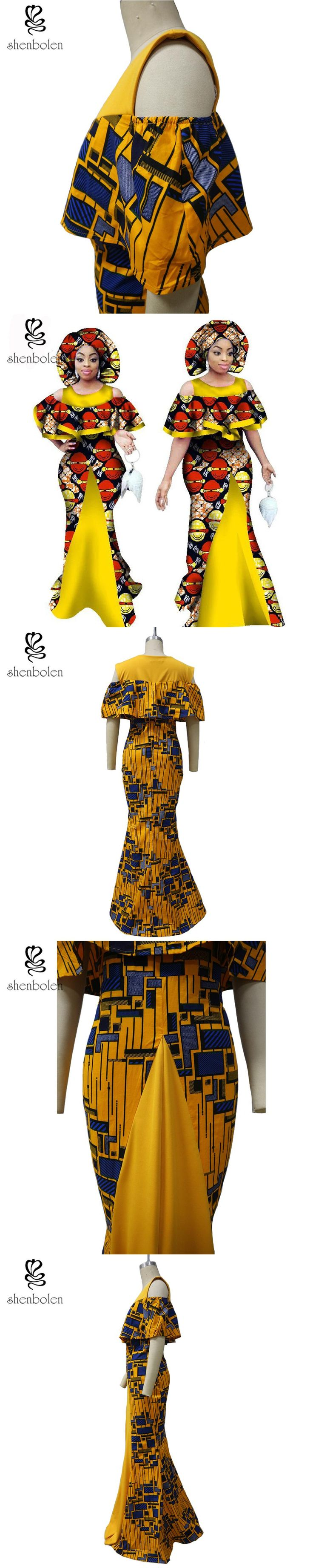 2017 African dresses for women wax printing ankara fabric clothes fashion dress traditional african clothing plus size XS-5XL
