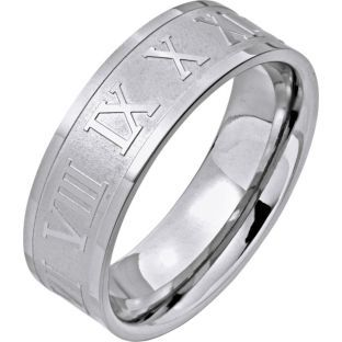 Buy Stainless Steel Roman Numeral Band Ring at Argos.co.uk - Your Online Shop for Men's fashion rings.