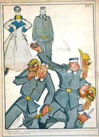 MARIO BAZZI GUERRA UNIFORME 1917 MASCHERA