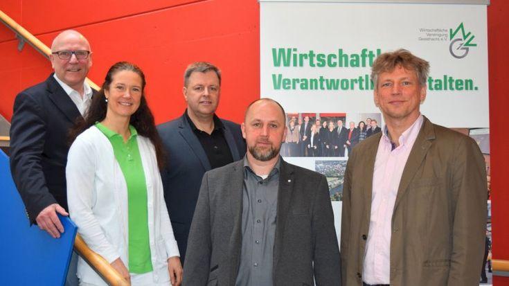 Präsentieren die Ziele der Wirtschaftlichen Vereinigung Geesthacht (WVG) bis 2020 (v.li:): Jürgen Wirobski, Christina Bischof-Deichnik, Stefan Manzke, Torsten Mausch und Thomas Vagedes.