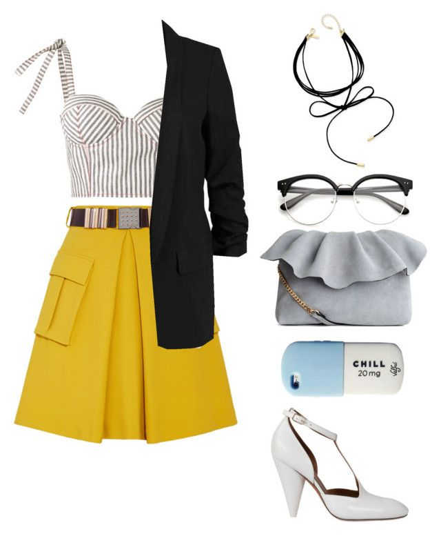 """""""Tina"""" by elshakalaka on Polyvore featuring Versace, Rosie Assoulin, CÉLINE and INC International Concepts"""