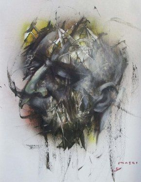 "Saatchi Online Artist Masri Hayssam; Painting, ""Untitled portrait after 23 august 2013.."" #art"