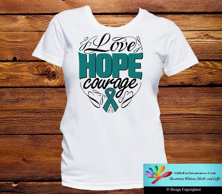 Peritoneal Cancer Love Hope Courage Shirts