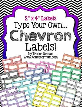 Dress up your classroom with these colorful Chevron labels you can customize & edit - the file is provided in Word format {compatible with 2x4 Avery 5163} 10 labels per page, 25 pages! Other sizes available. $