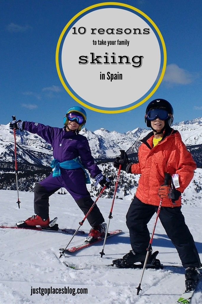 10 reasons to take your kids skiing in Spain.Family skiing in Spain: why Spain is a great winter destination for all your family.   Spain winter travel   Spain winter snow   Skiing with kids   Skiing with toddlers - via @justgoplaces
