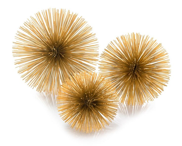 Set of Three Gold Burst Triplets - Accessories - New Introductions - Our Products