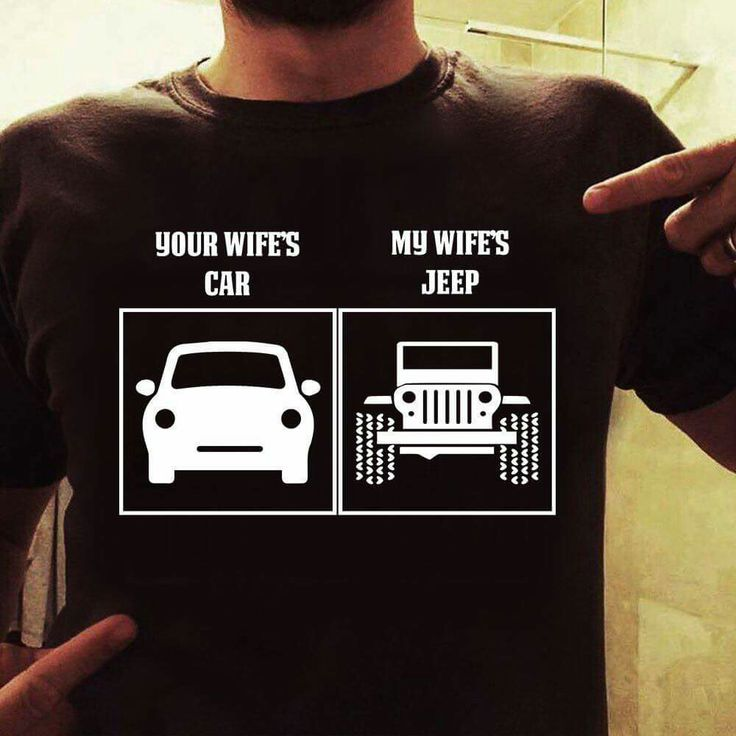 If I get this jeep on Friday this will be my hubbys new shirt