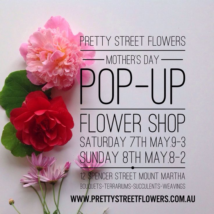 Mother's Day Popo-Up Shop!!