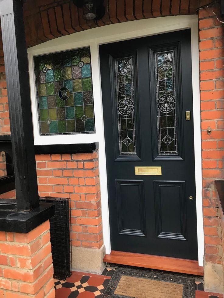 Amazing Black front door in London