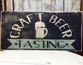 Craft Beer sign, Drink Local Craft Beer Sign, Boyfriend Gift, Husband Gift, Beer Gift, Beer Art, Raw, Rustic, Distressed bar sign, Man Cave